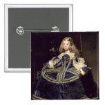 Infanta Margarita en el azul, 1659 Pin Cuadrado