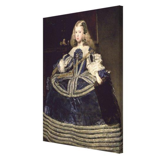 Infanta Margarita  in Blue, 1659 Canvas Print