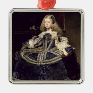Infanta Margarita  in Blue, 1659 Square Metal Christmas Ornament