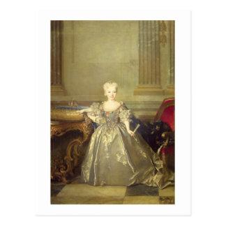 Infanta Maria Ana Victoria de Borbón, 1724 (oil on Postcard