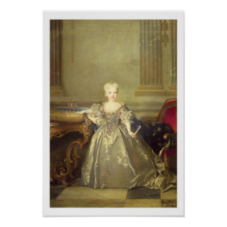 Infanta Maria Ana Victoria de Borbón, 1724 (oil on Poster