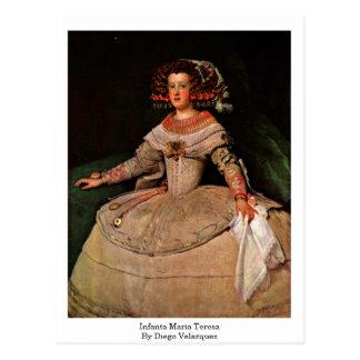Infanta Maria Teresa By Diego Velazquez Postcard
