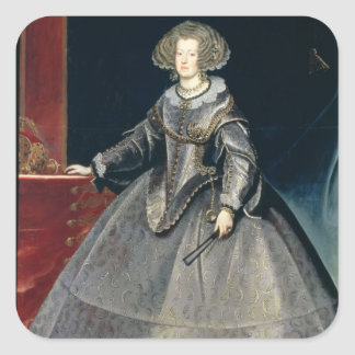 Infanta Maria Theresa 1638-83 c 1646 oil on can Square Sticker