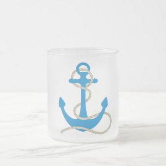 infante de marina de la playa de la nadada del taza cristal mate