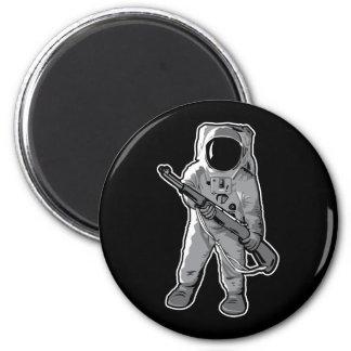 Infante de marina del espacio - astronauta con un  imán redondo 5 cm