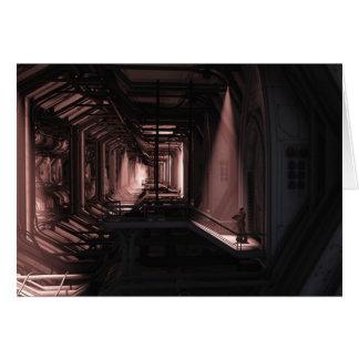 Infante de marina del espacio - guardia solitario tarjeta de felicitación