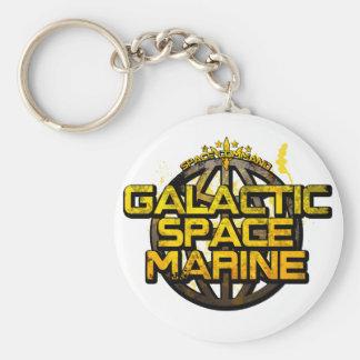 Infante de marina galáctico del espacio llavero redondo tipo pin