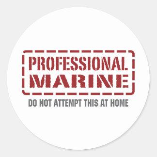 Infante de marina profesional pegatina redonda