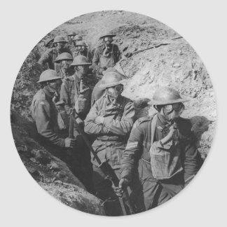 Infantería australiana que lleva respiradores de l etiquetas redondas