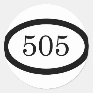 Infantería de 505 paracaídas pegatina redonda