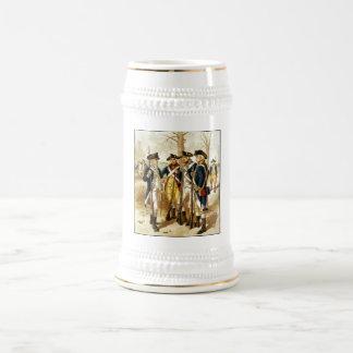Infantería de la guerra revolucionaria jarra de cerveza