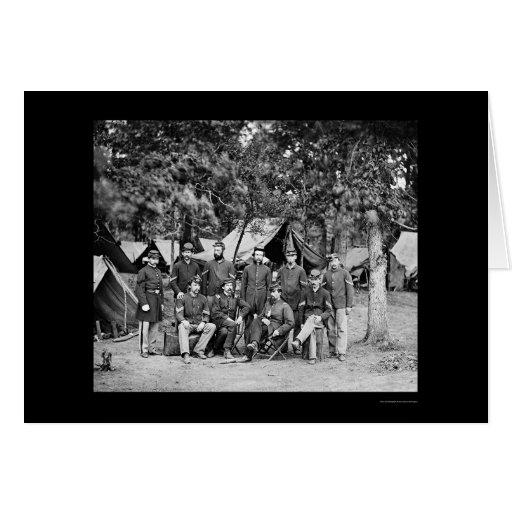 Infantería de Nueva York en Bealeton, VA 1863 Tarjeta De Felicitación