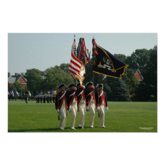 Infantería del ejército 3d - el guardia de honor c poster