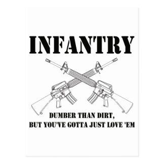 infantería - más muda que la suciedad postal