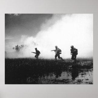 Infantería vietnamita del sur póster