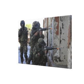Infantes de marina chilenos lienzo envuelto para galerías