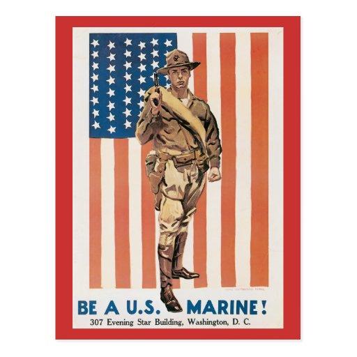 Infantes de marina de la Primera Guerra Mundial de Postales