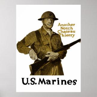 Infantes de marina de los E E U U -- Otro castill Poster