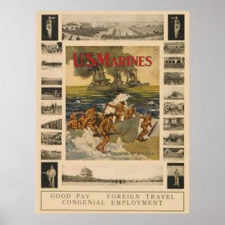Infantes de marina de los E.E.U.U. Posters