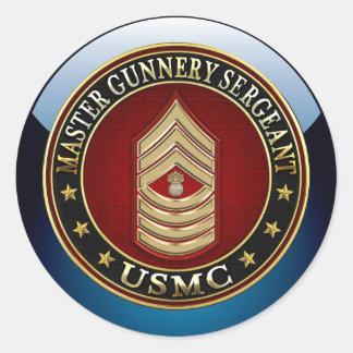 Infantes de marina de los E.E.U.U.: Sargento de Pegatina Redonda