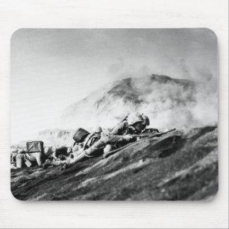 Infantes de marina de WWII en la playa de desembar Tapetes De Ratones