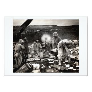 """Infantes de marina de WWII LOS E.E.U.U. en Iwo Invitación 5"""" X 7"""""""