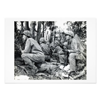 Infantes de marina de WWII LOS E E U U en Peleliu Comunicados Personales