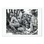 Infantes de marina de WWII LOS E.E.U.U. en Peleliu Invitación 12,7 X 17,8 Cm