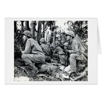 Infantes de marina de WWII LOS E.E.U.U. en Peleliu Tarjeta De Felicitación