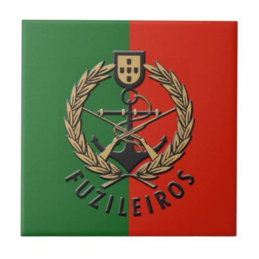 """Infantes de marina portugueses """"Fuzileiros """" de la Tejas"""
