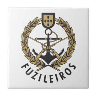 "Infantes de marina portugueses ""Fuzileiros "" de la Azulejo Cuadrado Pequeño"