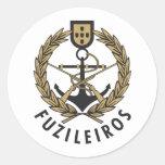 """Infantes de marina portugueses """"Fuzileiros """" de la Pegatina Redonda"""