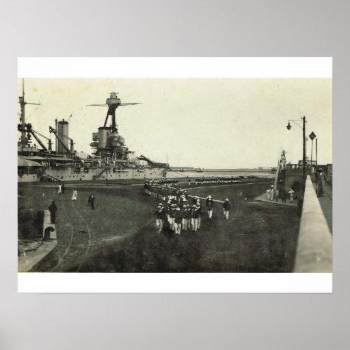 Infantes de marina que llegan para la ceremonia 1  impresiones