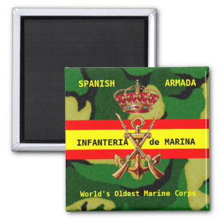 Infantes de marina reales españoles imán cuadrado