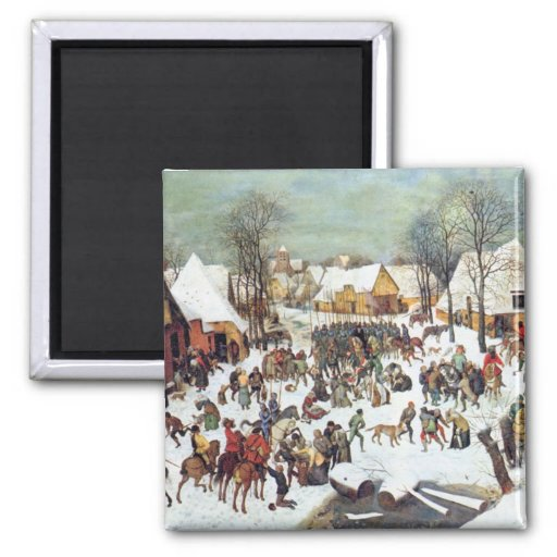Infanticide in Bethlehem by Pieter Bruegel 2 Inch Square Magnet