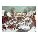 Infanticide in Bethlehem by Pieter Bruegel Post Cards