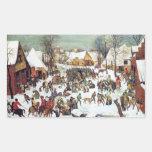 Infanticide in Bethlehem by Pieter Bruegel Rectangular Sticker