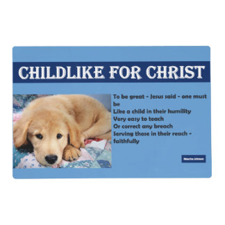 Infantil para Cristo - Placemat Salvamanteles