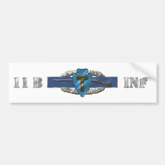 INFANTRY 11B 36th Infantry Division Car Bumper Sticker