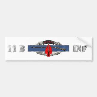INFANTRY 11B USASOC CAR BUMPER STICKER