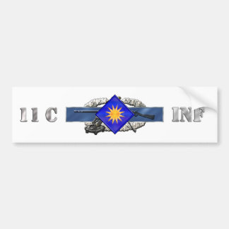 INFANTRY 11C 40TH ID BUMPER STICKERS