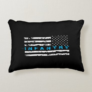 Infantry Blue - Flag Accent Pillow