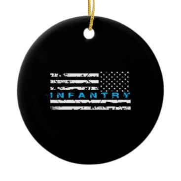 Infantry Blue - Flag Ceramic Ornament