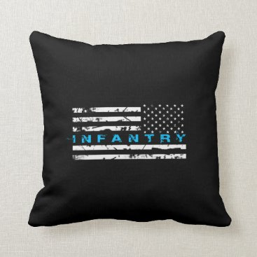 Infantry Blue - Flag Throw Pillow