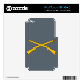Infantry Crossed Rifles Skin For iPod Touch 4G