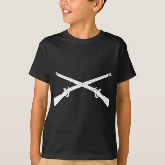 Infantry Crossed Rifles - White T-Shirt