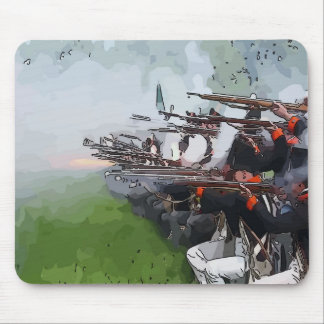 Infantry Firing Muskets Mouse Pad