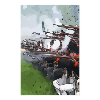 Infantry Firing Muskets Customized Stationery