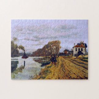 Infantry Guards on River Bank Monet Fine Art Jigsaw Puzzle