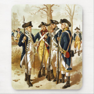 Infantry Of The Revolutionary War Mouse Pad
